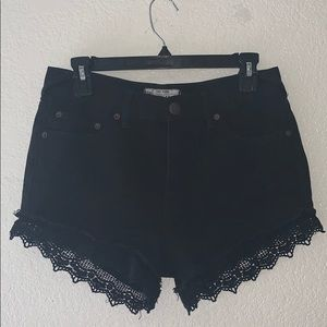 Black Free People laced shorts